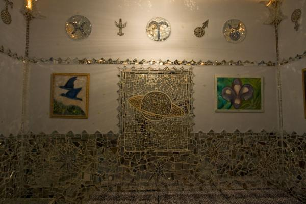 Saturn and astrological signs on the wall | House of Mirrors | Kuwait