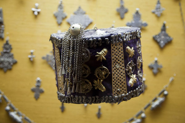 Picture of Ethiopian hat on display in the museumKuwait - Kuwait