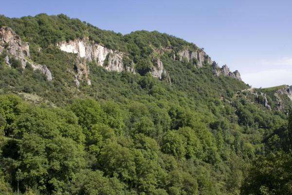 Mountain with walnut forest at Arslanbob | Arslanbob | Kirgizië