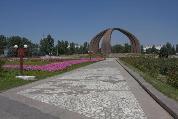 View of Victory Square with Victory Monument in the middle | Victory Monument | Kyrgyzstan