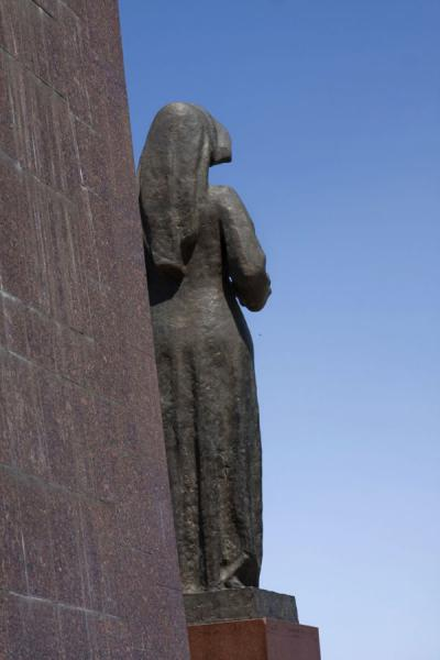 Female statue seen from behind the monument | Victory Monument | Kyrgyzstan
