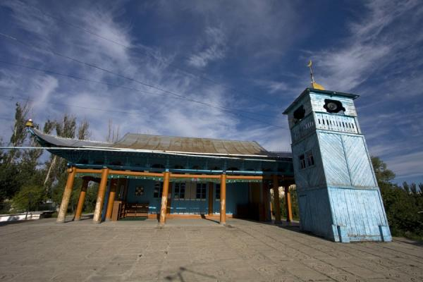 Frontal view of the mosque of Karakol | Karakol mosque | Kyrgyzstan
