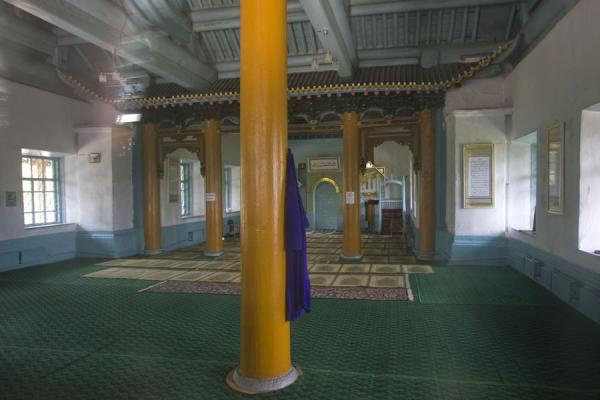 Inside view of the mosque of Karakol | Karakol mosque | Kyrgyzstan