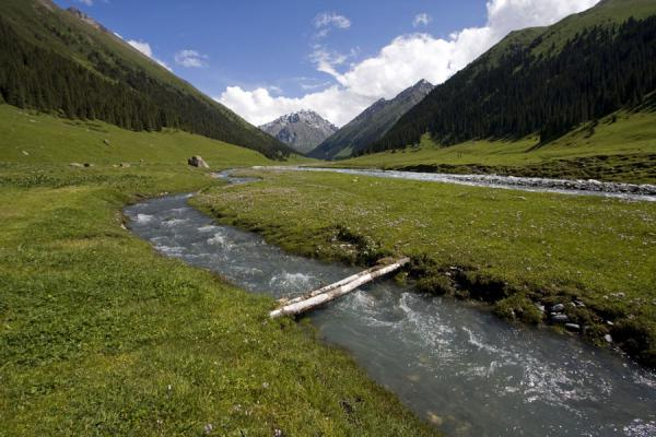Picture of Kyrgyzstan (The Arashan valley: looking upstream)
