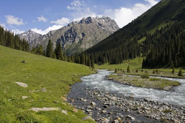 Looking upstream the Arashan river valley | Palatka Glacier | Kyrgyzstan