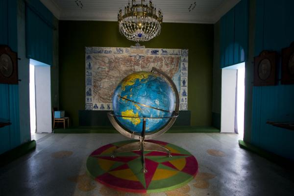 Globe with the travels of Przewalski | Przewalski monument | Kyrgyzstan