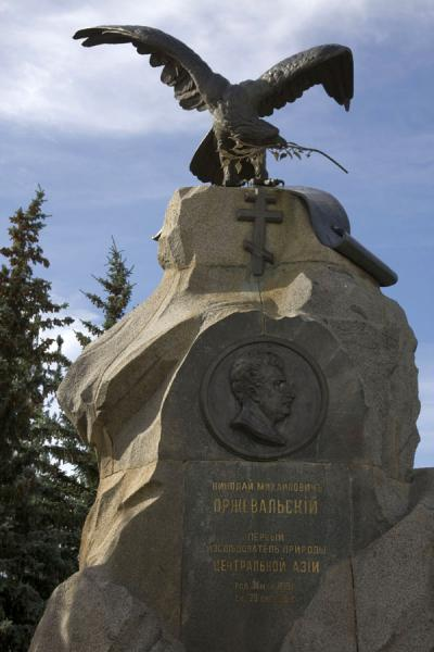 Picture of Przewalski monument (Kyrgyzstan): Eagle guarding the Przewalski monument