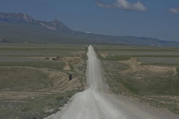 The long, straight road to Torugart | Torugart border crossing | Kyrgyzstan