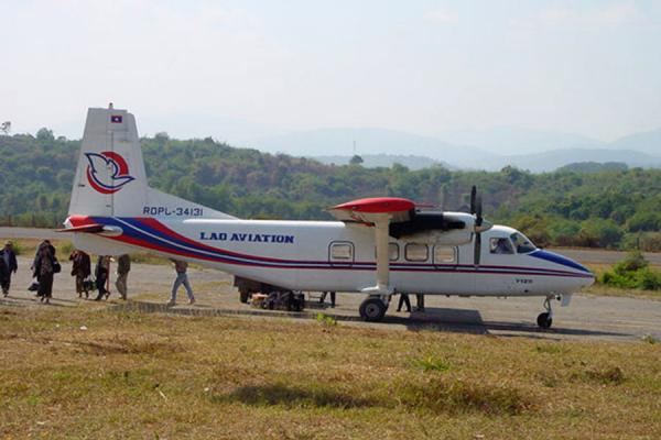 Picture of Boarding one of the small Chinese turbopropsLao Aviation - Laos