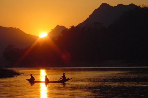 Picture of Laos (Sunset on Mekong River)