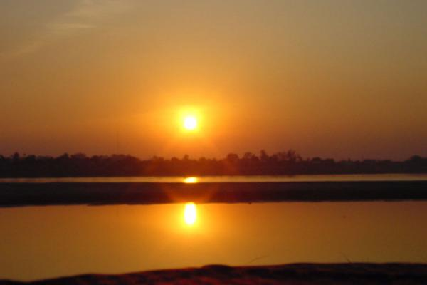 Picture of Sunset in VientianeMekong River - Laos