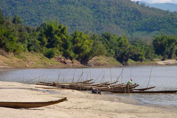 Picture of Boat parkingMekong River - Laos