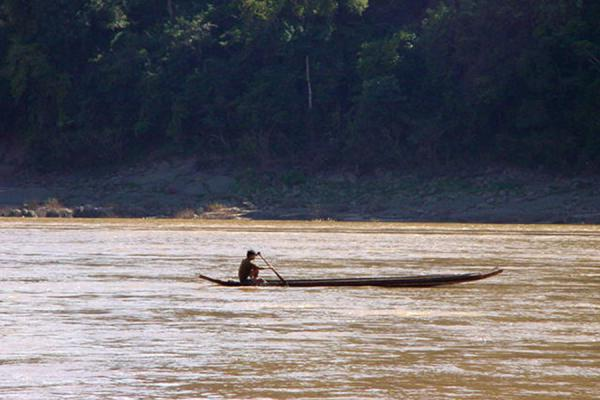 Braving the currents | Laos Mekong River | Laos