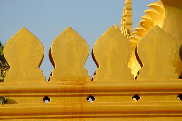 Fragment of gold | Pha Tat Luang | Laos