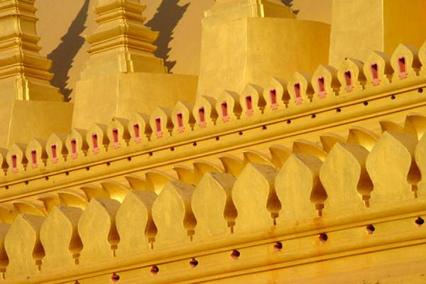 Picture of Afternoon sun reflected on golden Pha Tat Luang templePhatatluang - Laos