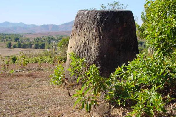 Jar in a plain (II) | Plain of Jars | Laos