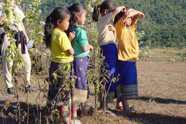 Picture of Plain of Jars (Laos): Girls in Plain of Jars