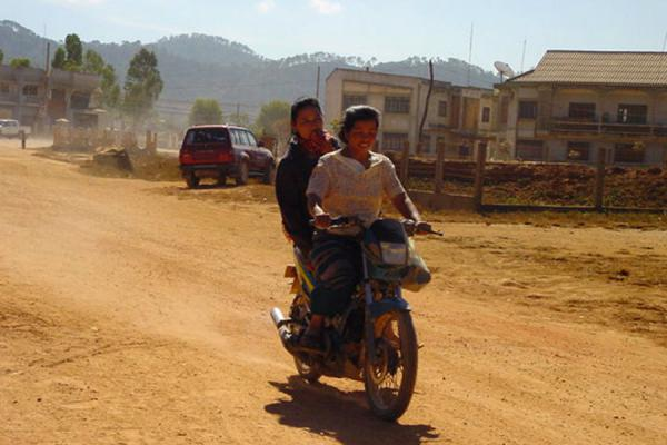 Two local girls heading for a future | Ponsavan | Laos