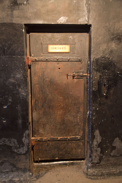 Door to one of the cells of the military prison of Karosta | Karosta Military Prison | Latvia