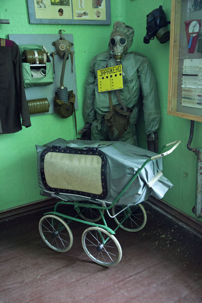 Picture of Babies were protected against gas in this special pram