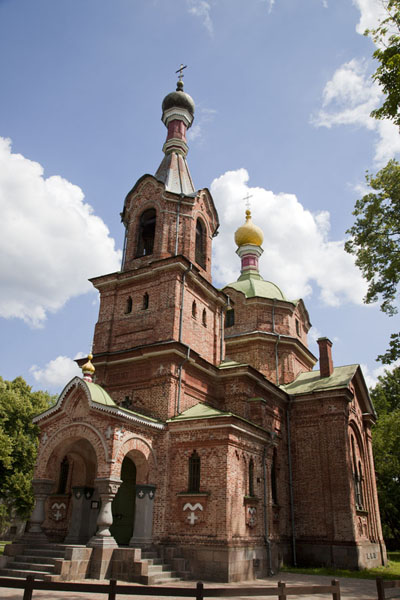 Picture of Looking up the orthodox church of Kuldīga