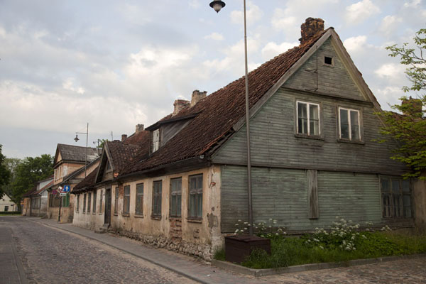 Traditional houses are often a mix of brick and wood | Kuldīga Old Town | Latvia