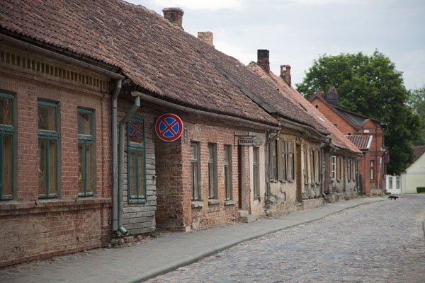 Cobble stone street in the city centre of Kuldīga | Kuldīga Old Town | Latvia