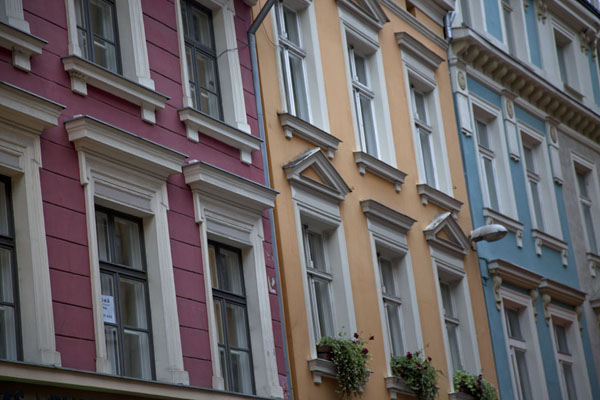 Brightly painted houses in the old town of Riga | Riga Old Town | Latvia