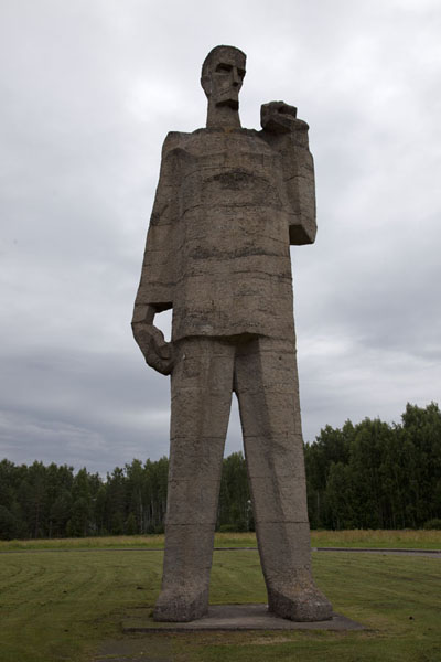 One of the three statues of the Solidarity group | Salaspils concentration camp | Latvia