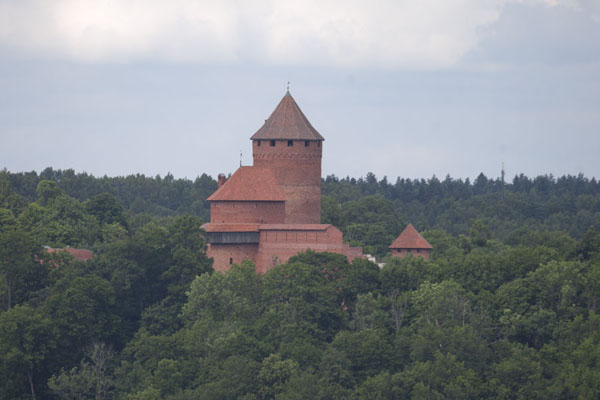 Picture of View of the towers of Turaida Castle from the ruins of the castle at Sigulda