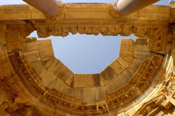 The best preserved exedra in the Great Court of Baalbek | Baalbek | Lebanon