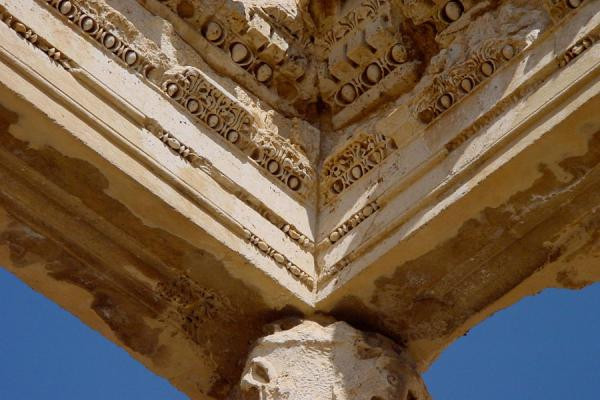 Picture of Remains of the portico in the Great Court at BaalbekBaalbek - Lebanon