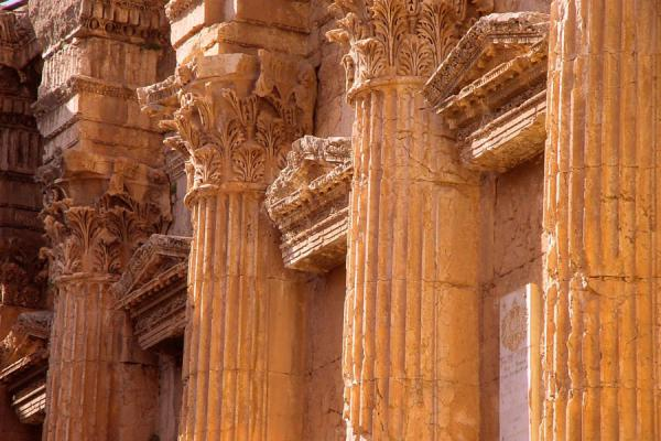 Foto di Detail of the inside of the Temple of BacchusBaalbek - Libano