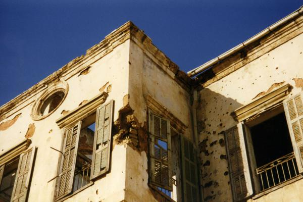 Picture of Beirut (Lebanon): One of the many houses full of war damage in Beirut