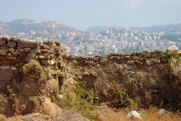 Picture of Old dwellings with new buildings in the backgroundByblos - Lebanon