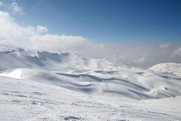Photo de Overlooking the snowy landscape of Faraya MzaarFaraya Mzaar - Liban