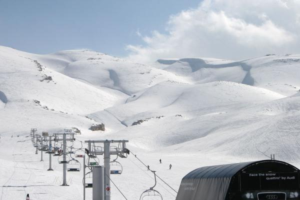 Some of the slopes of Faraya Mzaar ski area: Jardin des Neiges area | Faraya Mzaar Skiing | Lebanon