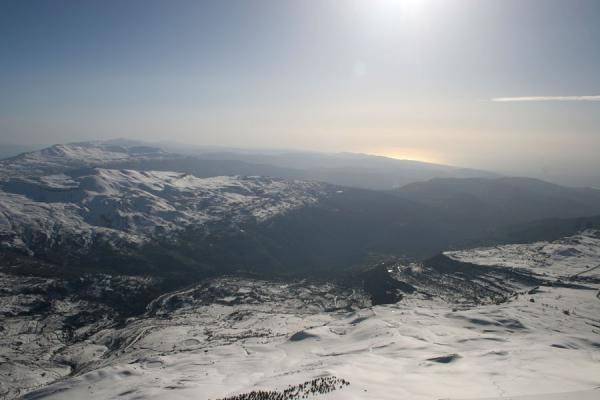 Looking out over the Mediterranean from the top of Mzaar | Faraya Mzaar Skiing | Lebanon