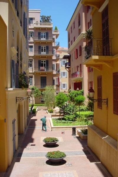 One of the completely new streets in the Central District | New Beyrut | Lebanon