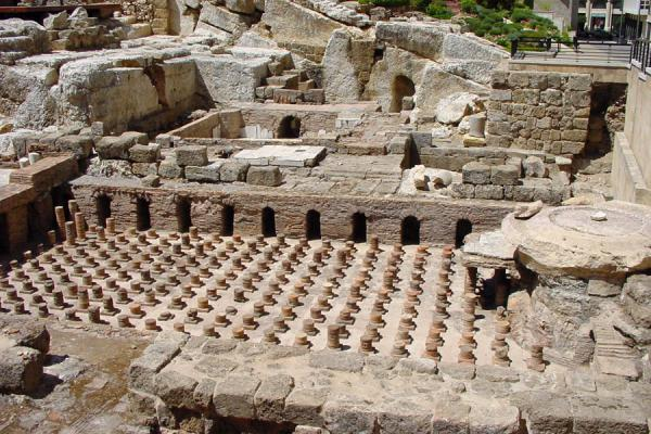 Picture of New Beyrut (Lebanon): Roman Baths in the middle of the Central District