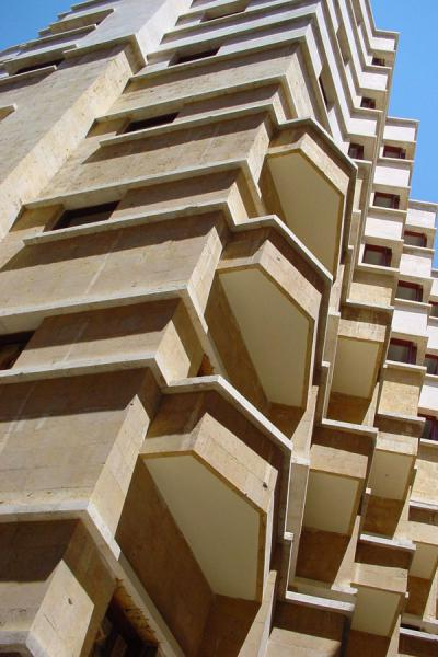 Picture of New Beyrut (Lebanon): One of the new buildings in the Central District, Beirut