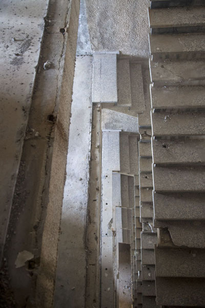 The ruined staircase of the main hotel building | Ducor Palace Hotel | Liberia