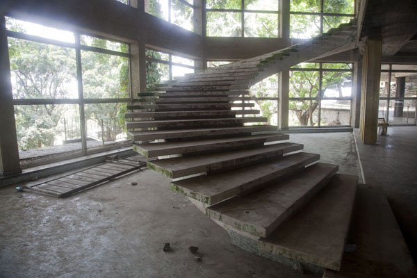 Flight of stairs from ground level | Ducor Palace Hotel | Liberia