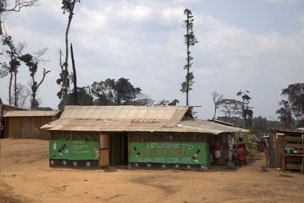 One of the businesses in Kinjor town | Kinjor Town | Libéria