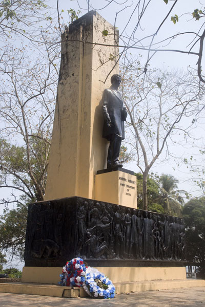 The monument to JJ Roberts, the first president of Liberia in 1848 | Monrovia | Liberia