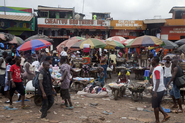 Foto van Liberia (The main market of Monrovia is Duala Market in the north)