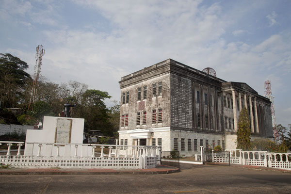 Photo de The Masonic Temple on the western side on which Monrovia is builtMonrovia - Libéria