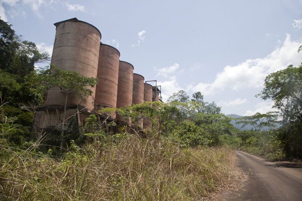 Road with iron ore cleaning facility at the foot of the Mount Nimba range | Mount Nimba Liberia | Liberia
