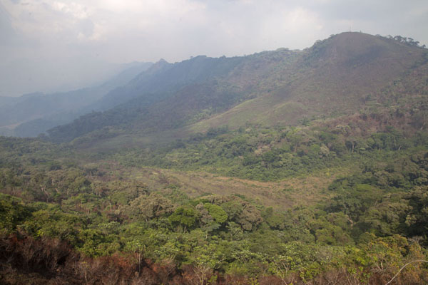Foto van Looking north across the Mount Nimba mountain range - Liberia - Afrika