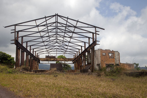 Skeletal remains of a hall once used in the iron ore mining process | Mount Nimba Liberia | Liberia